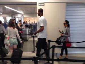 Lamarcus Aldridge at Logan Airport